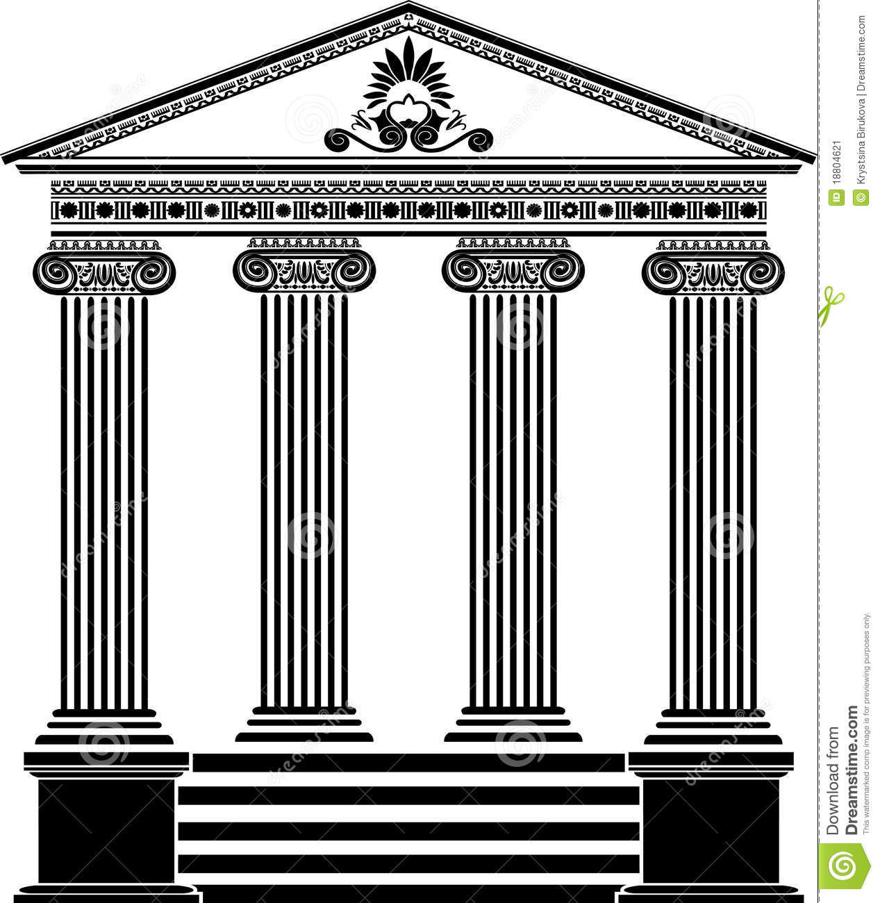 Greek temple clipart free graphic black and white download Greek Temple Stencil Stock Images - Image: 18288214 graphic black and white download