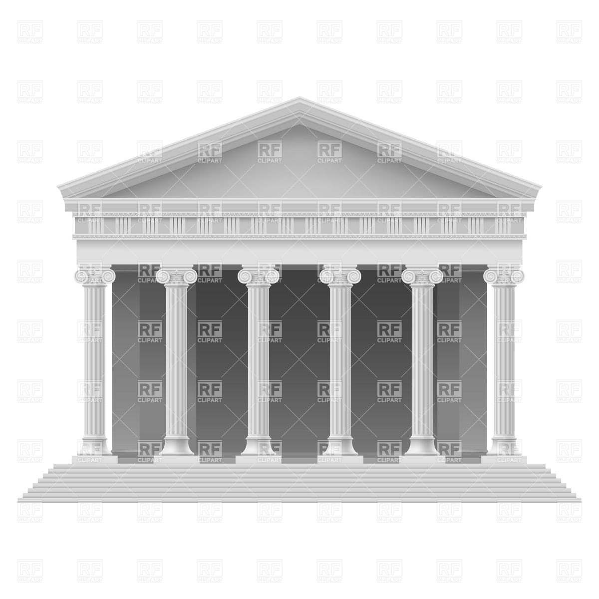 Greek temple clipart free banner free Greek Buildings Clipart - Clipart Kid banner free