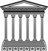 Greek temple clipart free image transparent Clip Art of Greek temple stencil k16216198 - Search Clipart ... image transparent