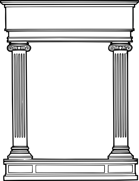 Greek temple clipart free svg royalty free stock Greek Columns Clipart - Clipart Kid svg royalty free stock