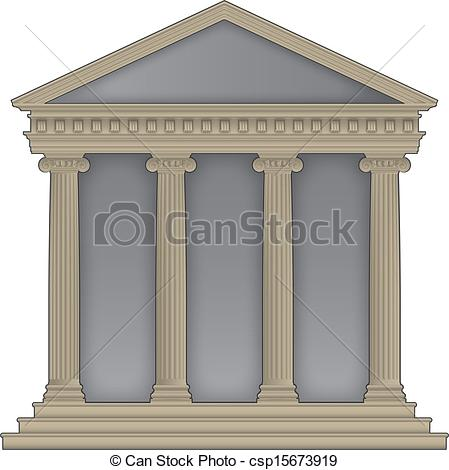 Greek temples clipart jpg free download Vector Clip Art of Roman/Greek Temple with ionic columns, high ... jpg free download