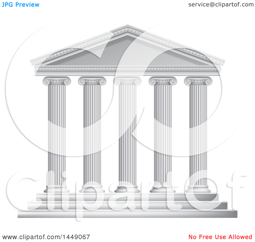 Greek temples clipart png free library Clipart Graphic of a 3d White Ancient Roman or Greek Temple with ... png free library