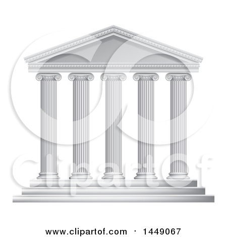 Greek temples clipart picture freeuse stock Clipart Graphic of a 3d White Ancient Roman or Greek Temple with ... picture freeuse stock