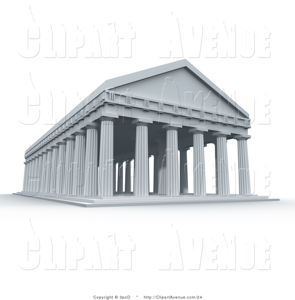 Greek temples clipart clip art stock Avenue Clipart of an Ancient 3d Roman Greek Temple with Columns by ... clip art stock