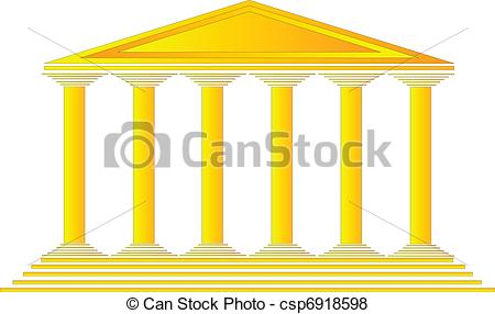 Greek temples clipart banner transparent stock Vector of Greek temple on white background - vector illustration ... banner transparent stock