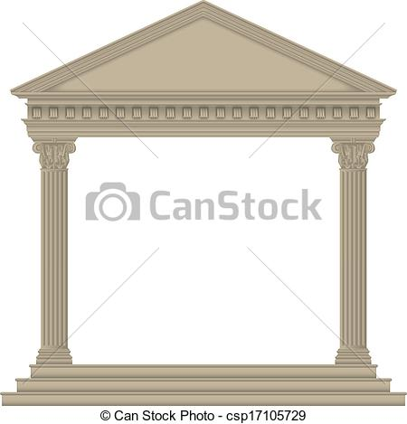 Greek temples clipart clipart royalty free library Vector Illustration of Roman/Greek Temple with Corinthian columns ... clipart royalty free library
