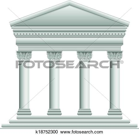 Greek temples clipart vector free Clipart of Corinthian Greek temple k18752300 - Search Clip Art ... vector free