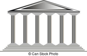 Greek temples clipart graphic freeuse library EPS Vector of Greek temple at sunset background - vector ... graphic freeuse library