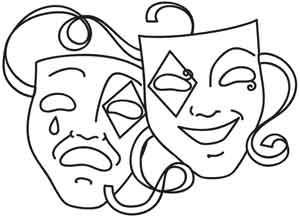 Greek theatre clipart jpg greek-tragedy-mask-clipart-20 - Evolution Theatre jpg