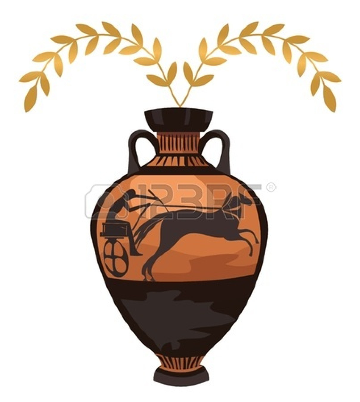 Greek vases clipart clipart black and white library pottery : Antique Greek vase | Clipart Panda - Free Clipart Images clipart black and white library