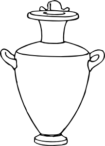 Greek vases clipart picture transparent library Greek Amphora Pottery Clip Art at Clker.com - vector clip art ... picture transparent library