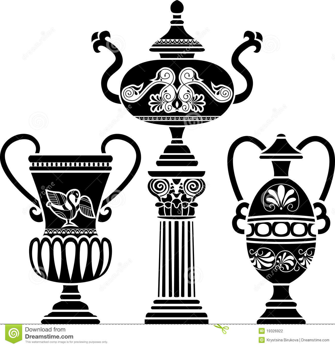 Greek vases clipart clip royalty free library Ancient Greek Vase Stock Photography - Image: 19326922 clip royalty free library