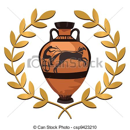 Greek vases clipart clipart library library Vector Clipart of Antique Greek Vase - Antique Greek vase with ... clipart library library