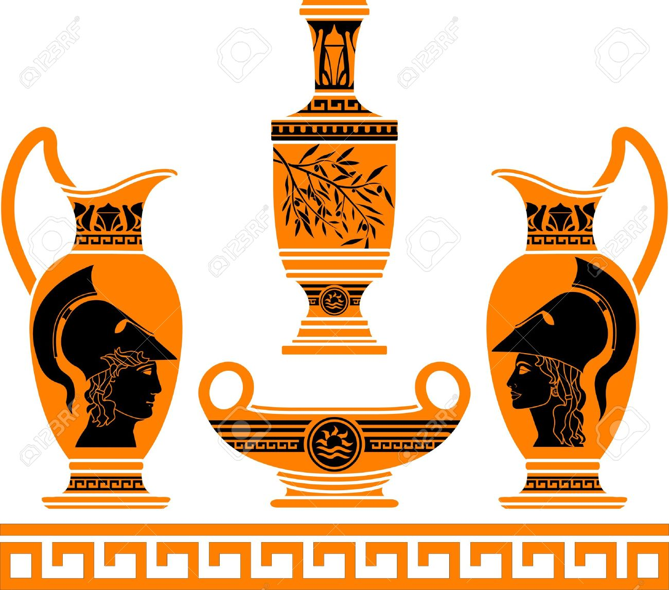 Greek vases clipart banner transparent 1,295 Amphora Vase Stock Vector Illustration And Royalty Free ... banner transparent