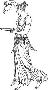 Greek woman clipart