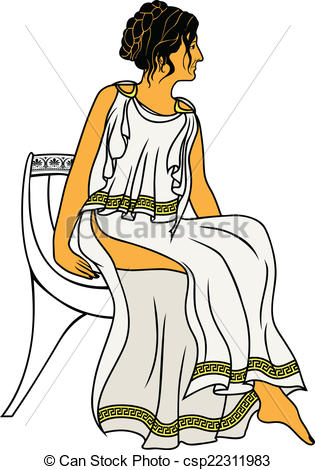 Greek woman clipart image free stock Clipart Vector of greek woman profiles csp12136351 - Search Clip ... image free stock
