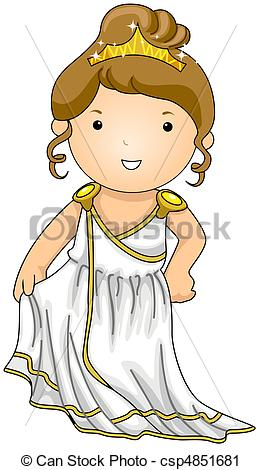 Greek woman clipart graphic stock Clipart of Greek - Illustration of a Woman Dressed in a Greek ... graphic stock