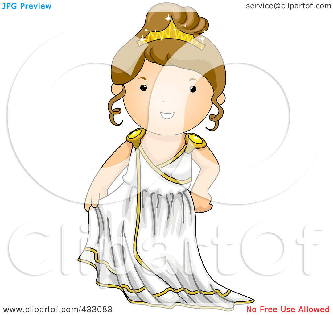 Greek woman clipart royalty free library Royalty-Free (RF) Clipart Illustration of a Greek Girl by BNP ... royalty free library