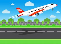 Green airport clipart vector library library Illustration of airplane taking off airport clipart » Clipart Portal vector library library