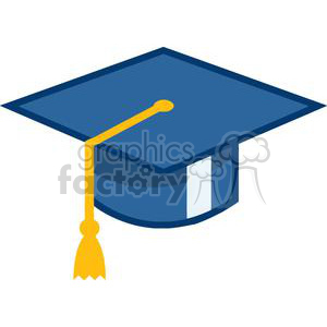 Green and blue clipart of grad caps freeuse stock MortarBoard Graduation Cap clipart. Royalty-free clipart # 380014 freeuse stock