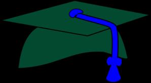 Green and blue clipart of grad caps picture black and white download Green Graduation Cap Blue Tassel Clip Art at Clker.com - vector clip ... picture black and white download