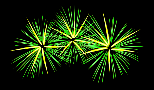 Green and yellow clipart image royalty free download Green And Yellow Fireworks clip art (115743) Free SVG Download / 4 ... image royalty free download