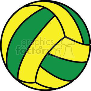 Green and yellow clipart clip black and white volleyball green yellow clipart. Royalty-free clipart # 381157 clip black and white