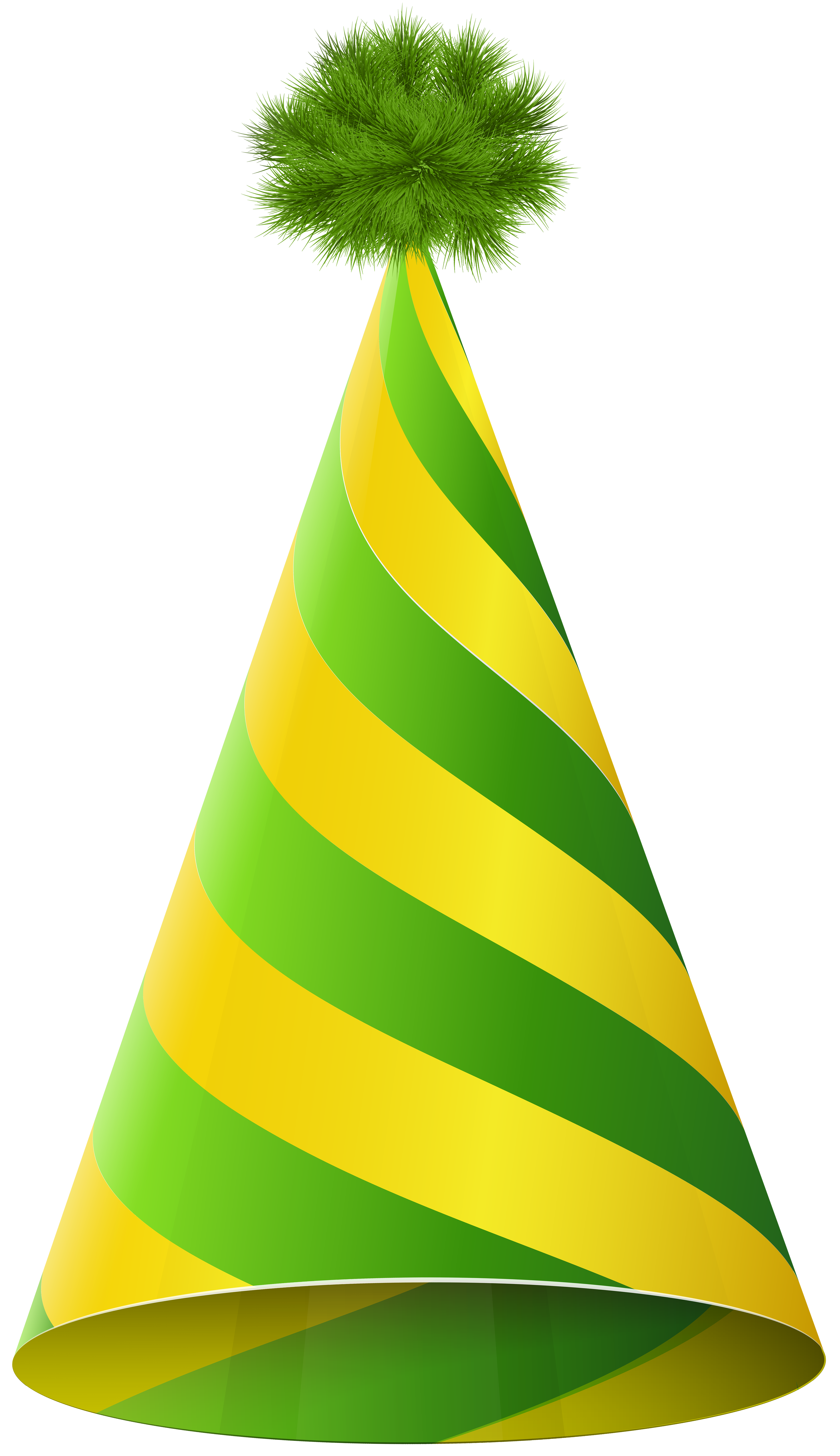 Green and yellow clipart clip art free stock Party Hat Green Yellow Transparent PNG Clip Art Image | Gallery ... clip art free stock
