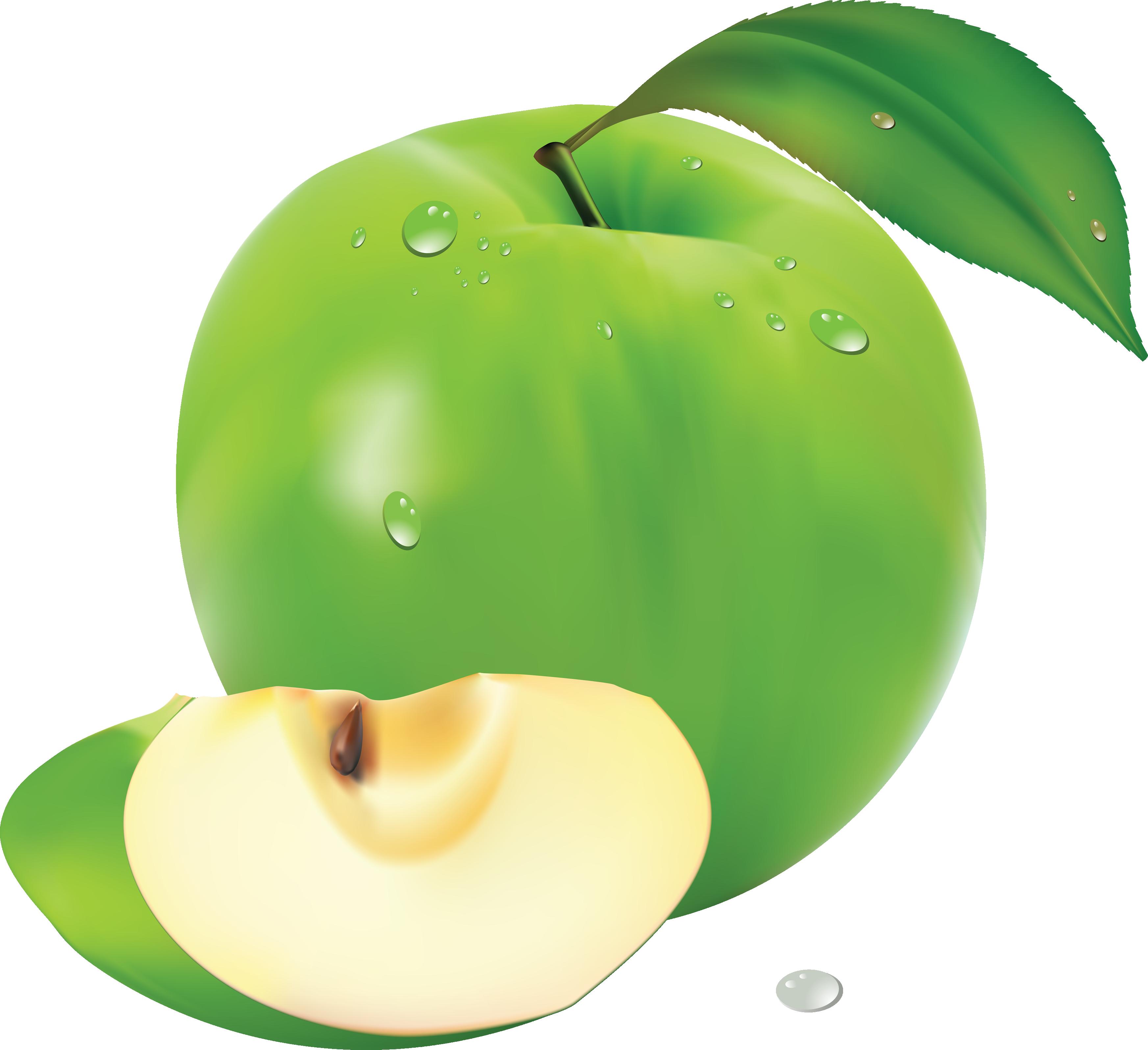 Green apple clipart transparent clip download Apple PNG clip download