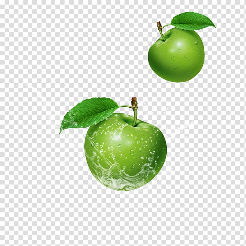 Green apple juice clipart