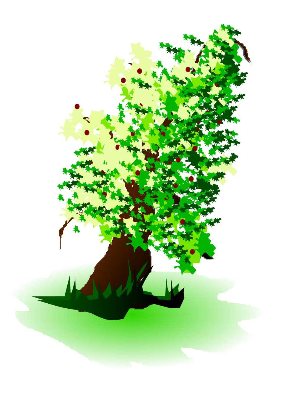Green apple tree clipart clipart free download Public Domain Clip Art Image | apple tree oil painting | ID ... clipart free download