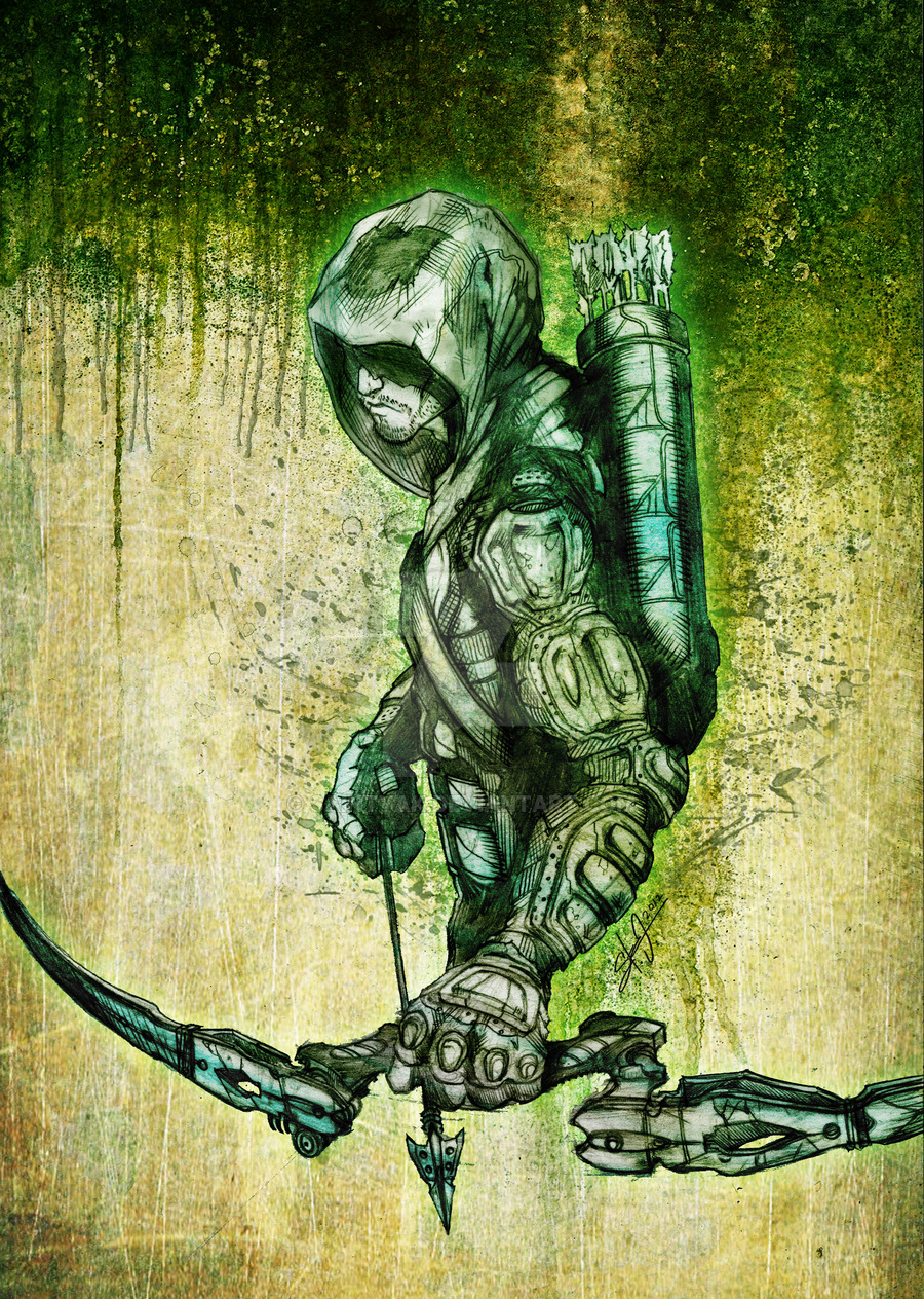 Green arrow artwork banner royalty free World's Greatest Archer: The Best Green Arrow Fan Art banner royalty free