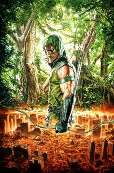 Green arrow artwork banner library download Green Arrow #38 by Bryan Hitch * | *Artist: Bryan Hitch ... banner library download