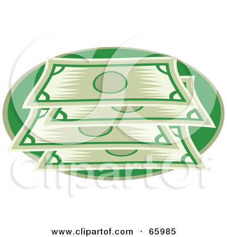 Green bank clipart png black and white download Royalty-Free (RF) Clipart Illustration of a Flat Green Bank Note ... png black and white download