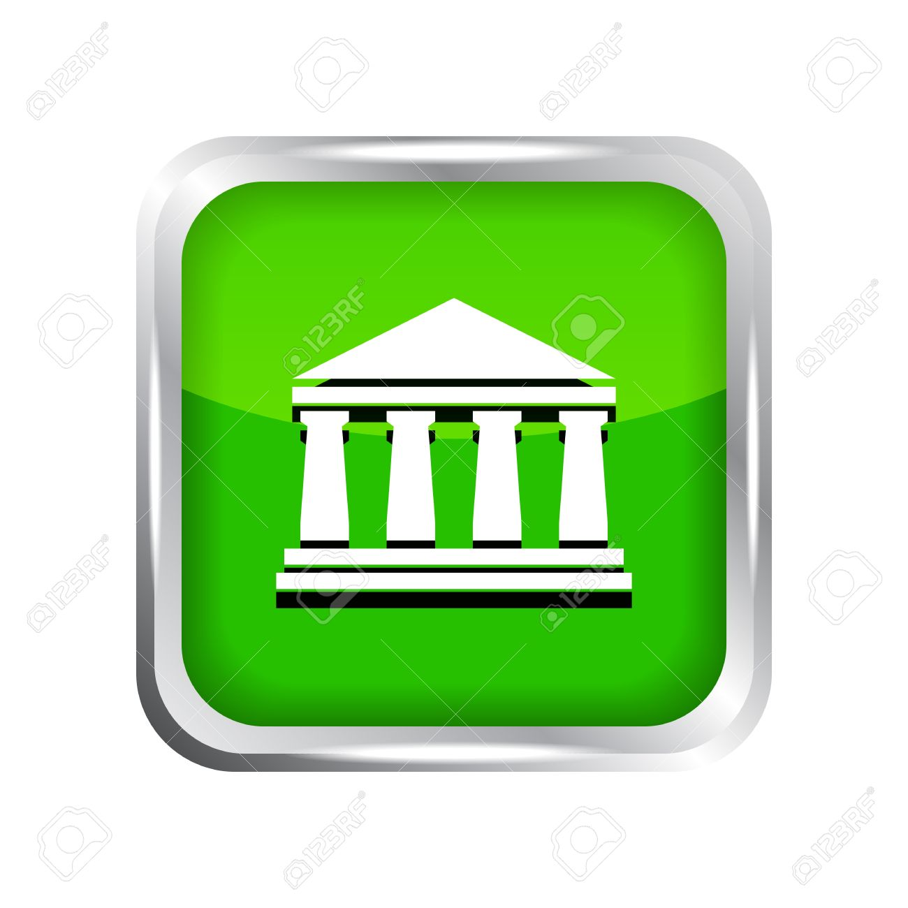 Green bank clipart svg library Green Bank Icon On A White Background Royalty Free Cliparts ... svg library