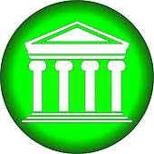 Green bank clipart clip transparent download Clipart of Green bank icon k7830162 - Search Clip Art ... clip transparent download