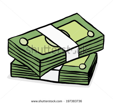 Green bank clipart graphic library stock Two Stack Green Bank Notes Cartoon Stock Vector 197383736 ... graphic library stock
