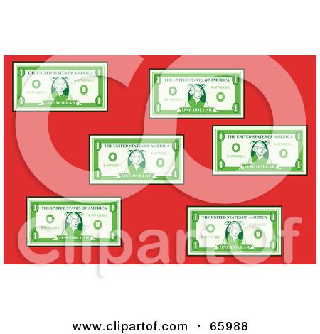 Green bank clipart vector stock Royalty-Free (RF) Clipart Illustration of a Flat Green Bank Notes ... vector stock