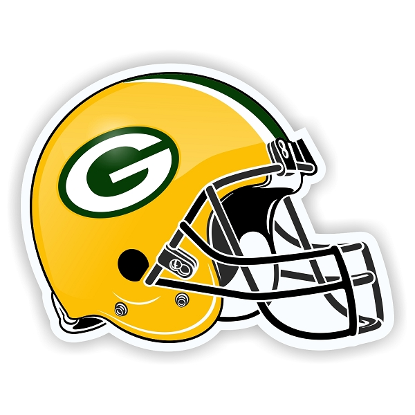Green bay packer helmet clipart black and white Helmet Green Bay Packers Helmet Die-Cut Decal / Sticker ** 4 Sizes ** black and white
