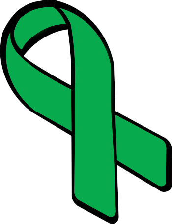 Green cancer ribbon clipart vector black and white download Green cancer ribbon clipart - ClipartFest vector black and white download