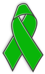 Green cancer ribbon clipart graphic black and white download Awareness ribbon clipart green - ClipartFest graphic black and white download
