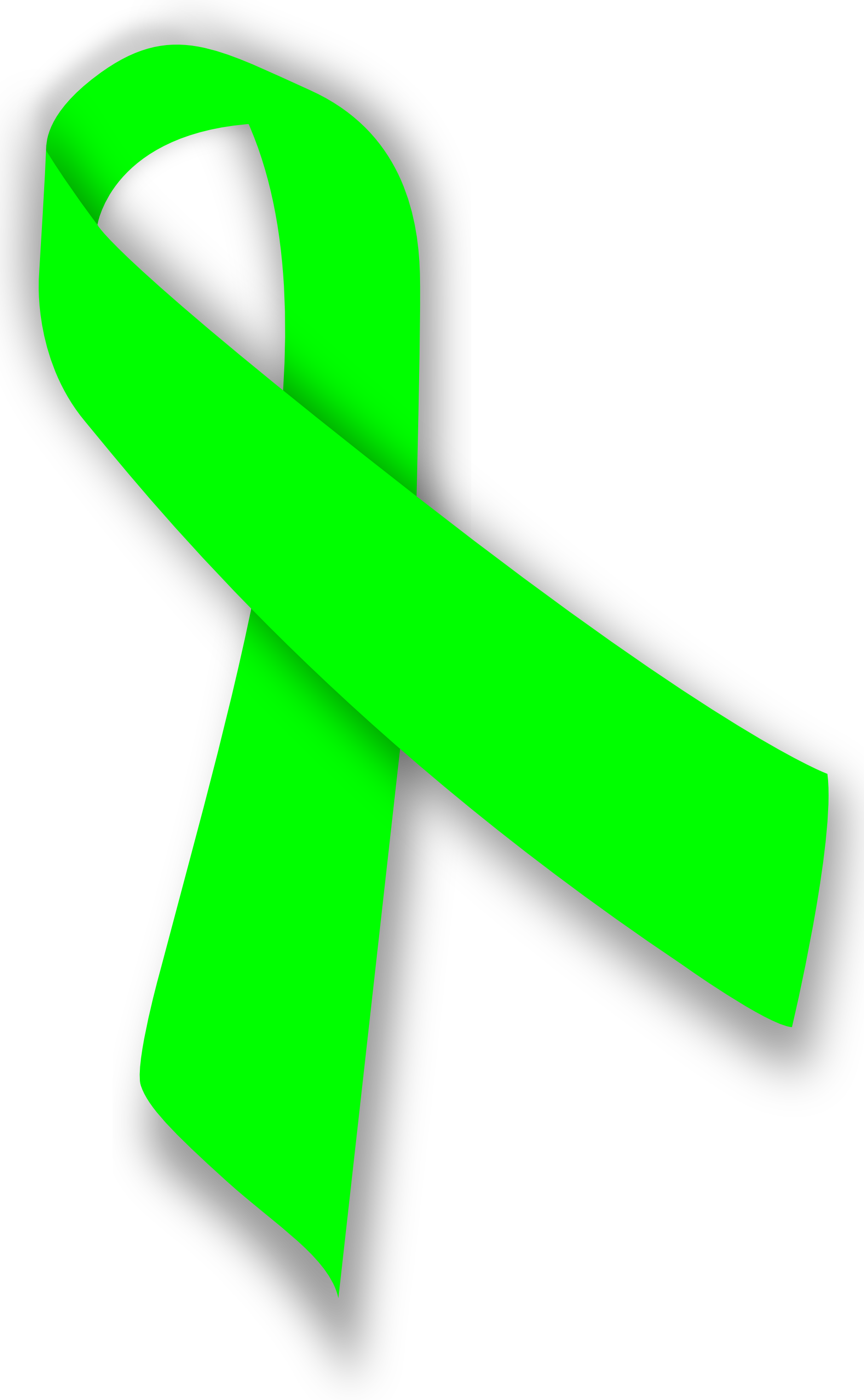 Green cancer ribbon clipart image freeuse download Green Cancer Ribbon - ClipArt Best image freeuse download