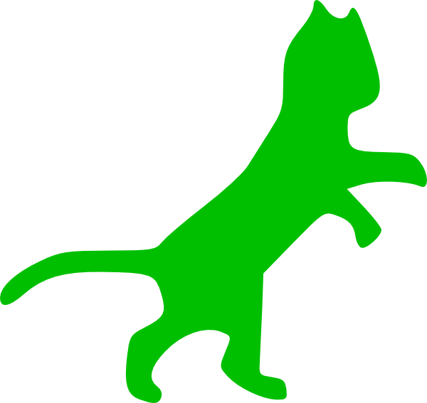 Green cat clipart picture black and white download Green Cat Clip Art at Clker.com - vector clip art online, royalty ... picture black and white download