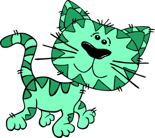 Green cat clipart picture freeuse download 28+ Collection of Green Cat Clipart | High quality, free cliparts ... picture freeuse download