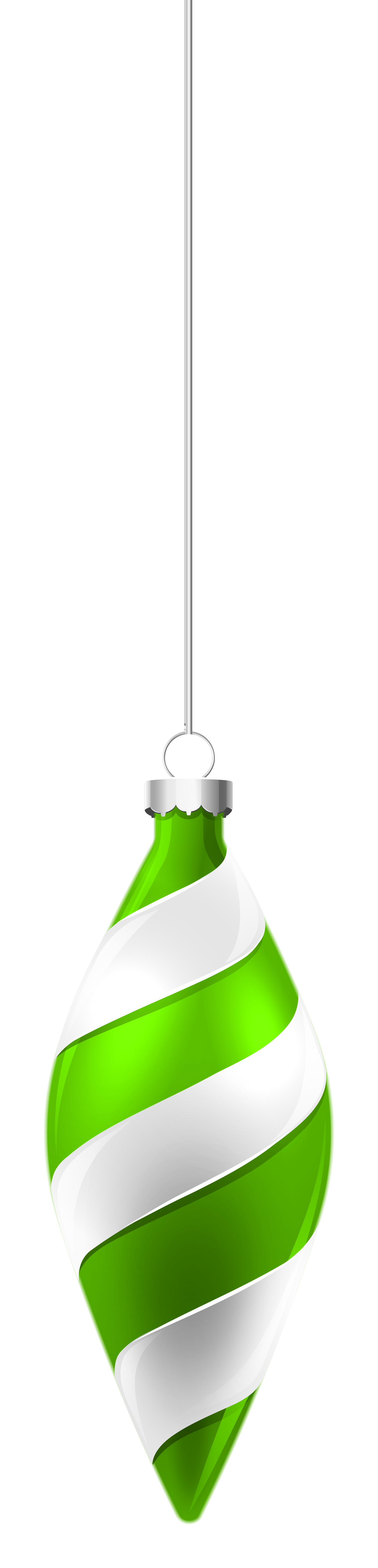 Green christmas ornaments clipart clipart freeuse library White and Green Christmas Ornament PNG Clipart Image | Gallery ... clipart freeuse library