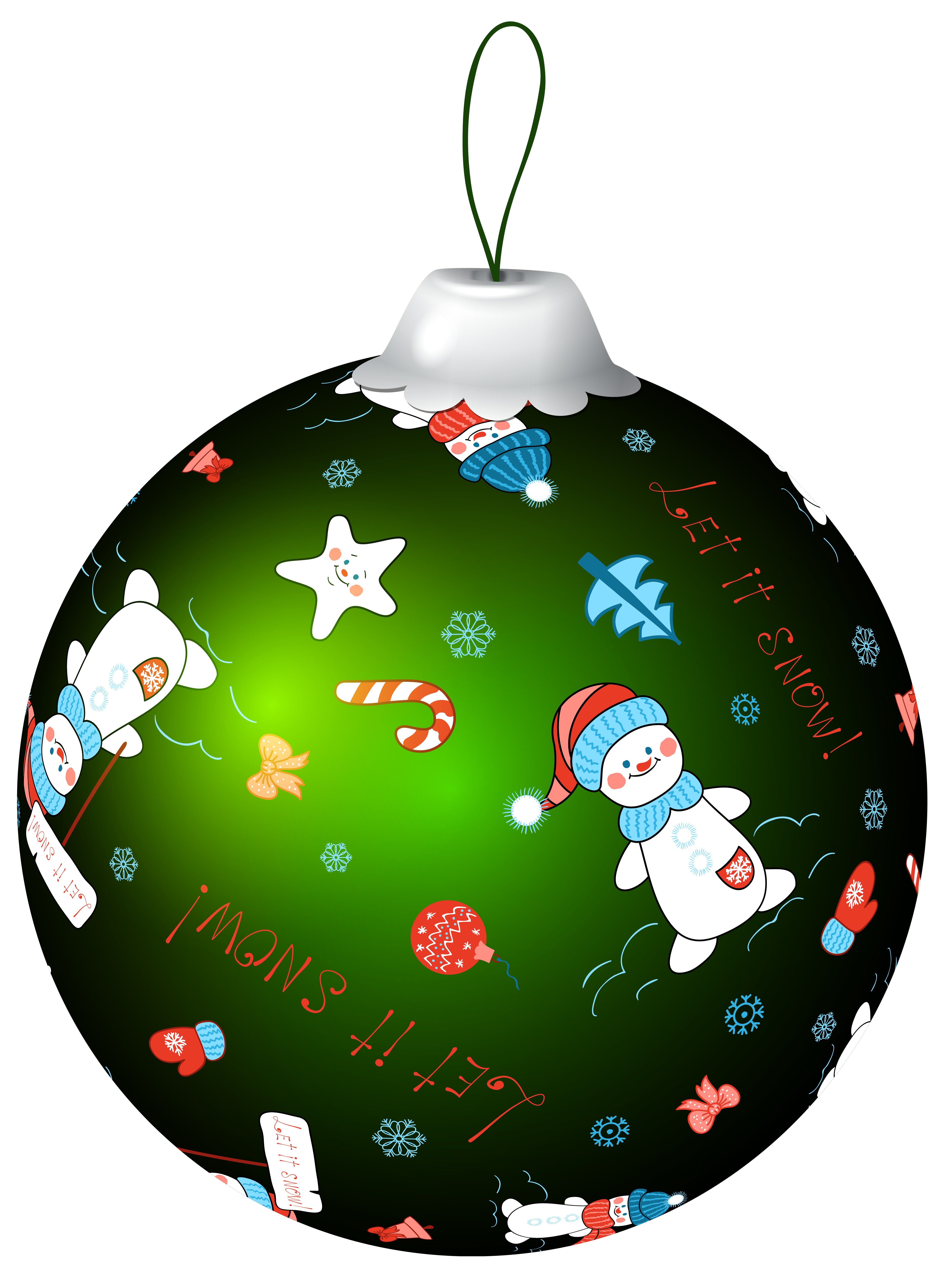 Green christmas ornament clipart picture freeuse stock Green Christmas Ball with Snowman PNG Clip Art Image | Gallery ... picture freeuse stock