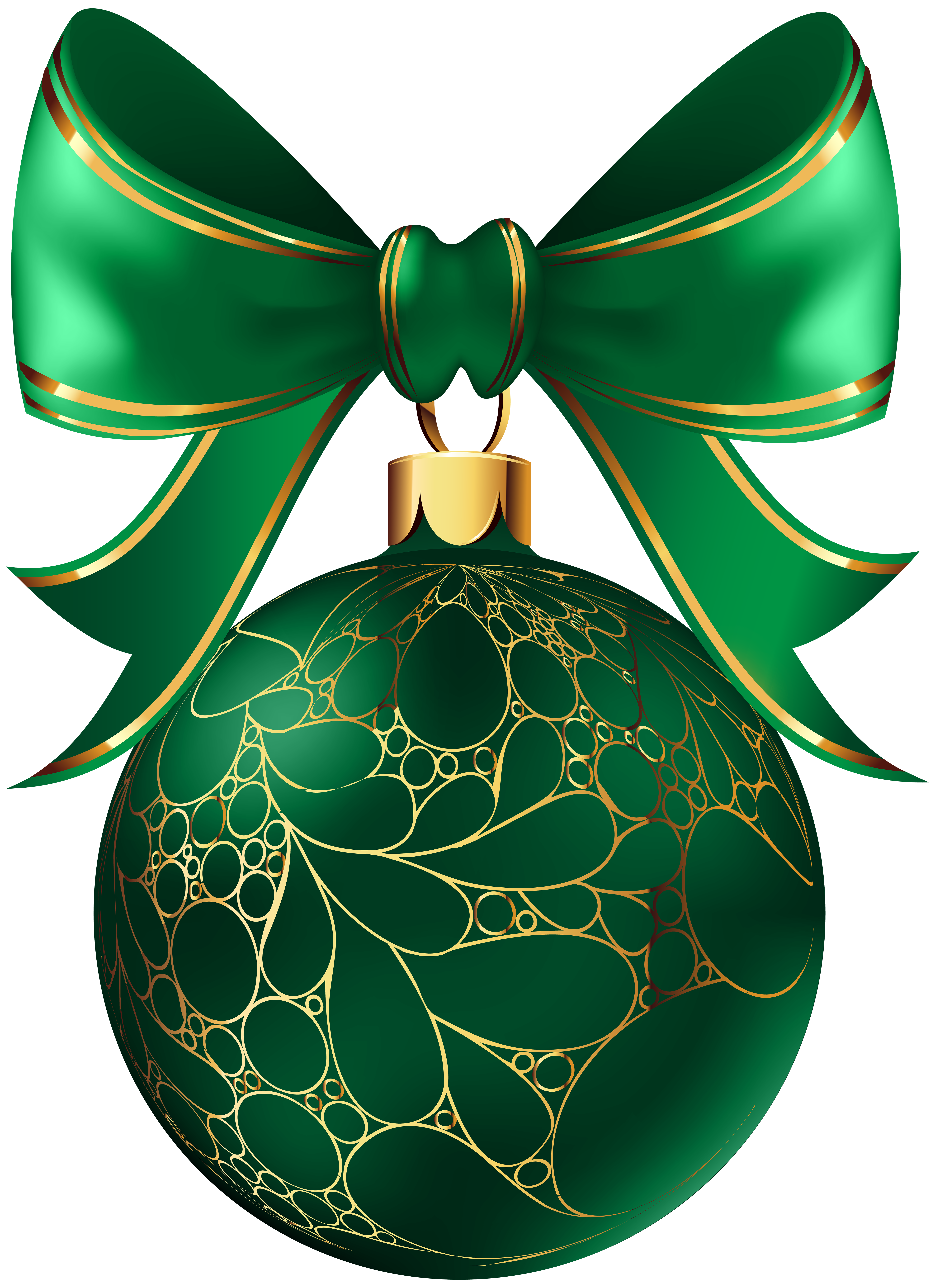 Green christmas ornaments clipart image free stock Christmas Ball Green Transparent PNG Image | Gallery Yopriceville ... image free stock