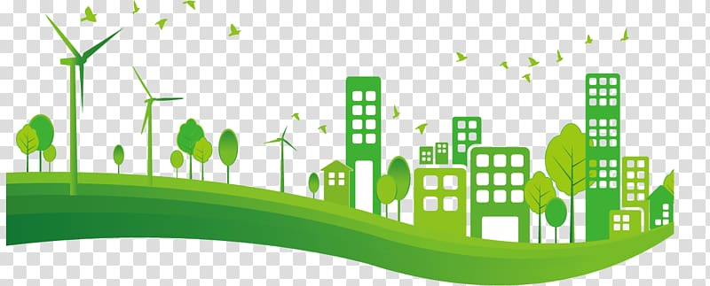 Green city clipart clip freeuse download Illustration of green city buildings and wind turbines, City ... clip freeuse download