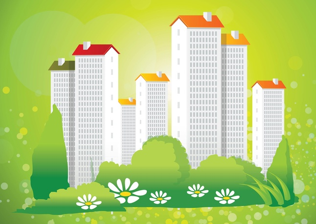 Green city clipart vector freeuse Green City Living Vector clip arts, free clip art - ClipartLogo.com vector freeuse