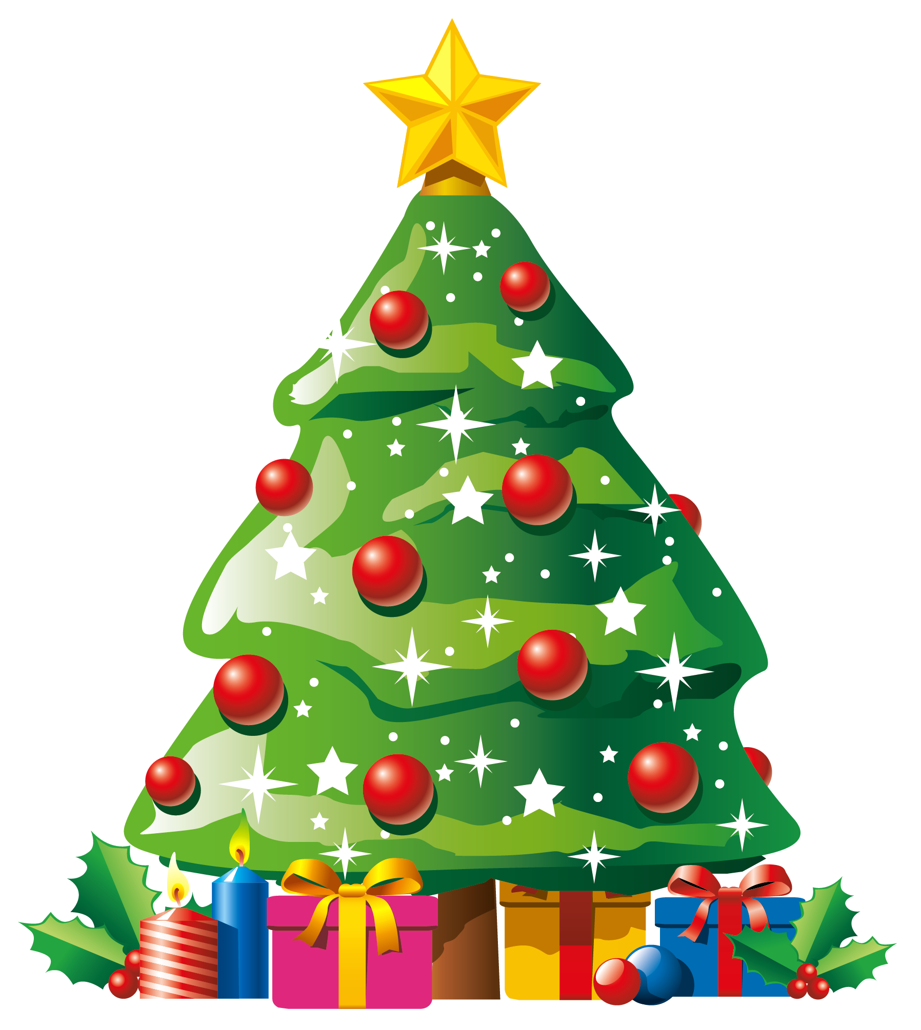 Green coffee cup christmas trees clipart vector png clip art freeuse download Transparent Deco Christmas Tree with Gifts Clipart | Новогодние ... clip art freeuse download